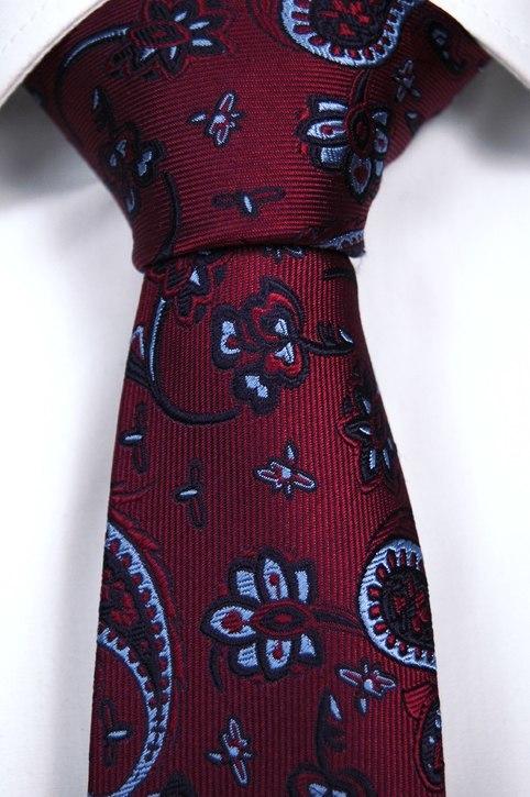 Slips, Notch AMIR, smal röd botten med paisley mönster