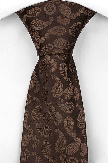Slips, Notch BRAGE har en chokladbrun botten & ett paisleymönster ton-i-ton