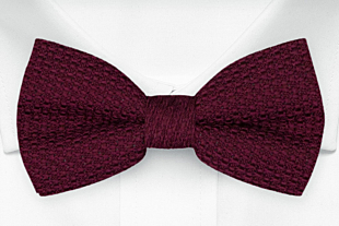 GRENADINE Burgundy red knuten fluga