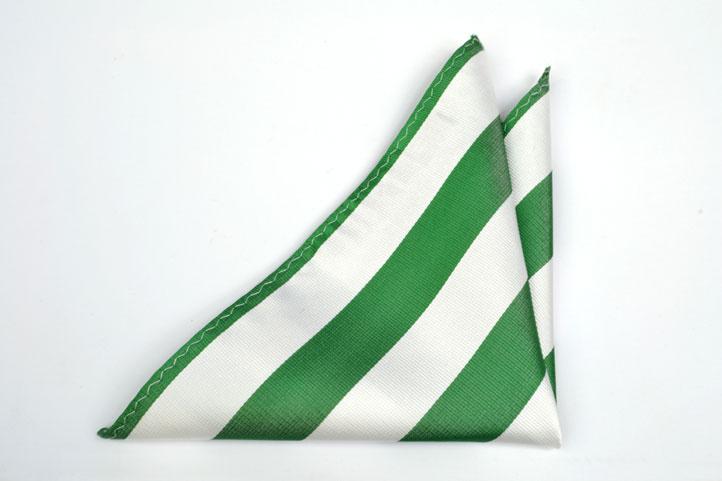 Bröstnäsduk, Notch VALDEZ har ränder i vitt & grönt
